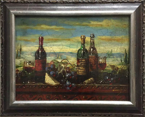 Wine Tasting by Bartolome Luzanquis at Art Leaders Gallery - Michigan's Finest Art Gallery