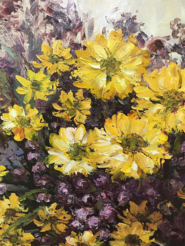 """Full Bloom by Jamie Lisa at Art Leaders Gallery, voted """"Michigan's Best Fine Art Gallery"""" is located in the heart of West Bloomfield. This full service fine art gallery is the destination for all your art and custom picture framing needs. Our extensive inventory of art includes styles ranging from contemporary to traditional. The gallery represents international, national, and emerging new talent as well as local Michigan artists."""