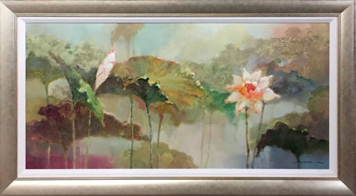 """Lotus Haven by Stefan Yi at Art Leaders Gallery, voted """"Michigan's Best Fine Art Gallery"""" is located in the heart of West Bloomfield. This full service fine art gallery is the destination for all your art and custom picture framing needs. Our extensive inventory of art includes styles ranging from contemporary to traditional. The gallery represents international, national, and emerging new talent as well as local Michigan artists."""