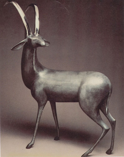 "Antelope number 140 by Loet Vanderveen at Art Leaders Gallery, voted ""Michigan's Best Fine Art Gallery"" is located in the heart of West Bloomfield. This full service fine art gallery is the destination for all your art and custom picture framing needs. Our extensive inventory of art includes styles ranging from contemporary to traditional. The gallery represents international, national and emerging new talent as well as local Michigan artists."