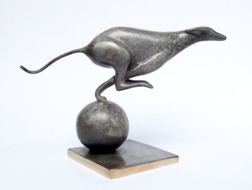 """Greyhound Sculpture 310 by Loet Vanderveen at Art Leaders Gallery, voted """"Michigan's Best Fine Art Gallery"""" is located in the heart of West Bloomfield. This full service fine art gallery is the destination for all your art and custom picture framing needs. Our extensive inventory of art includes styles ranging from contemporary to traditional. The gallery represents international, national and emerging new talent as well as local Michigan artists."""