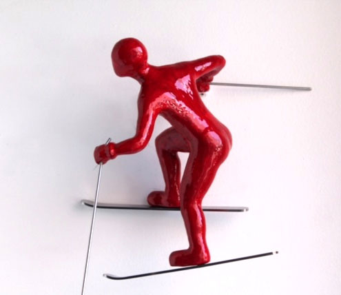 """Colorful Climber Winter Athlete: Cross-Country Skier by Ancizar Marin at Art Leaders Gallery, voted """"Michigan's Best Fine Art Gallery"""" is located in the heart of West Bloomfield. This full service fine art gallery is the destination for all your art and custom picture framing needs. Our extensive inventory of art includes styles ranging from contemporary to traditional. The gallery represents international, national, and emerging new talent as well as local Michigan artists."""