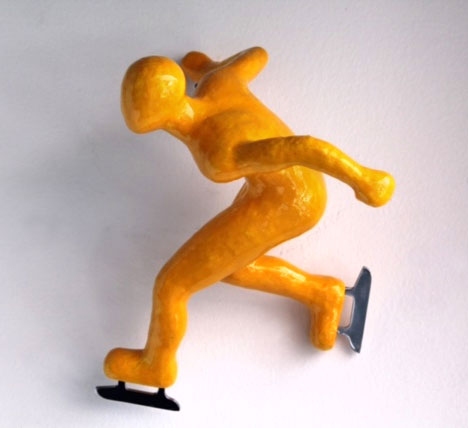 """Colorful Climber Winter Athlete: Speed Skater by Ancizar Marin at Art Leaders Gallery, voted """"Michigan's Best Fine Art Gallery"""" is located in the heart of West Bloomfield. This full service fine art gallery is the destination for all your art and custom picture framing needs. Our extensive inventory of art includes styles ranging from contemporary to traditional. The gallery represents international, national, and emerging new talent as well as local Michigan artists."""