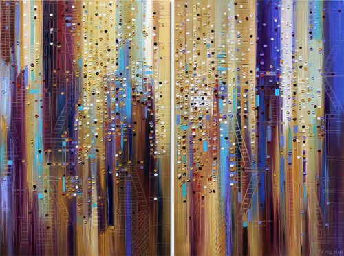 Dynamic City by Ekaterina Ermilkina at Art Leaders Gallery - Michigan's Finest Art Gallery