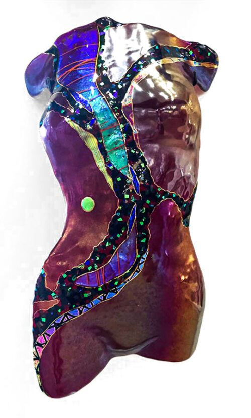 Female Torso, Dichroic Wall Sculpture