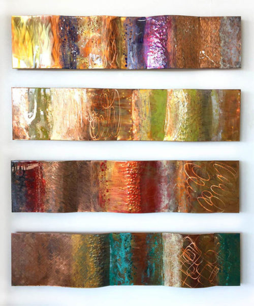 "Rhythm Copper Series by Ken Rausch at Art Leaders Gallery, voted ""Michigan's Best Fine Art Gallery"" is located in the heart of West Bloomfield. This full service fine art gallery is the destination for all your art and custom picture framing needs. Our extensive inventory of art includes styles ranging from contemporary to traditional. The gallery represents international, national, and emerging new talent as well as local Michigan artists."