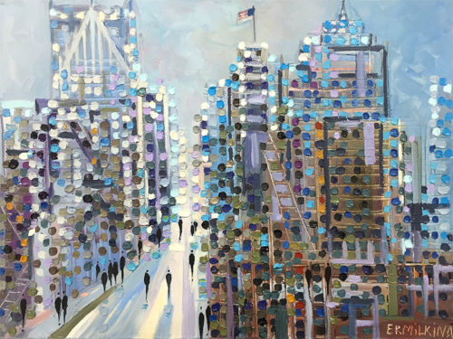 Afternoon on Woodward by Ekaterina Ermilkina at Art Leaders Gallery - Michigan's Finest Art Gallery