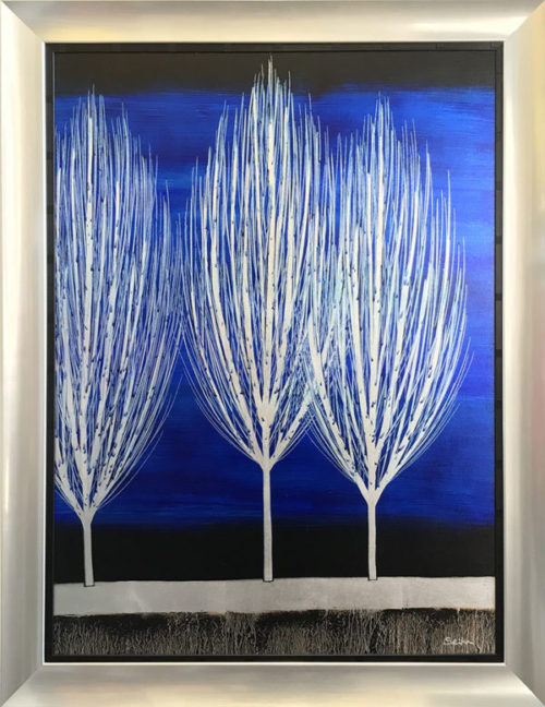 """Silent Grove Trio by Nakisa Seika at Art Leaders Gallery, voted """"Michigan's Best Fine Art Gallery"""" is located in the heart of West Bloomfield. This full service fine art gallery is the destination for all your art and custom picture framing needs. Our extensive inventory of art includes styles ranging from contemporary to traditional. The gallery represents international, national, and emerging new talent as well as local Michigan artists."""