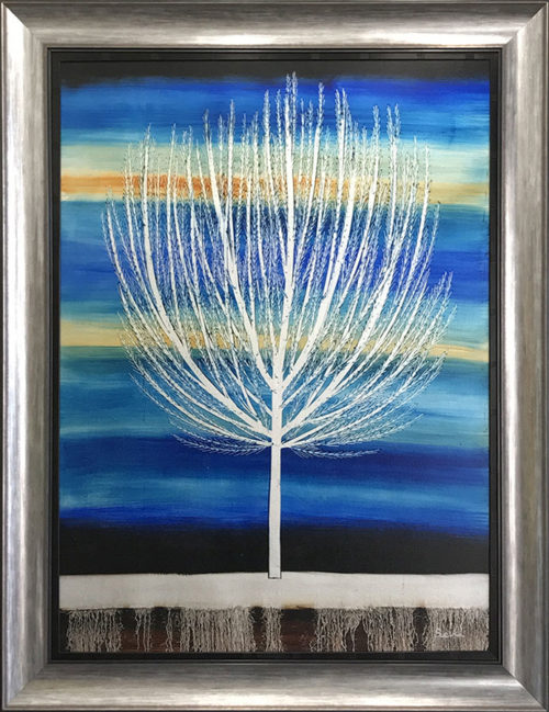 """Tree of Life at Dusk by Nakisa Seika at Art Leaders Gallery, voted """"Michigan's Best Fine Art Gallery"""" is located in the heart of West Bloomfield. This full service fine art gallery is the destination for all your art and custom picture framing needs. Our extensive inventory of art includes styles ranging from contemporary to traditional. The gallery represents international, national, and emerging new talent as well as local Michigan artists."""