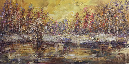 """Golden Evening"" by Konstantin Savchenko at Art Leaders Gallery, voted ""Michigan's Best Fine Art Gallery"" is located in the heart of West Bloomfield. This full service fine art gallery is the destination for all your art and custom picture framing needs. Our extensive inventory of art includes styles ranging from contemporary to traditional. The gallery represents international, national, and emerging new talent as well as local Michigan artists."