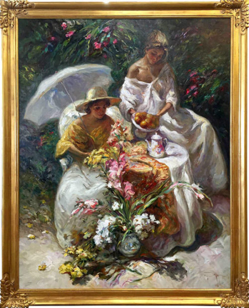 "La Mesa Del Jardin by Jose Royo at Art Leaders Gallery, voted ""Michigan's Best Fine Art Gallery"" is located in the heart of West Bloomfield. This full service fine art gallery is the destination for all your art and custom picture framing needs. Our extensive inventory of art includes styles ranging from contemporary to traditional. The gallery represents international, national and emerging new talent as well as local Michigan artists."