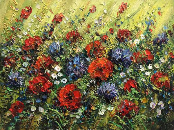 """Wild Flowers II"" by Konstantin Savchenko at Art Leaders Gallery, voted ""Michigan's Best Fine Art Gallery"" is located in the heart of West Bloomfield. This full service fine art gallery is the destination for all your art and custom picture framing needs. Our extensive inventory of art includes styles ranging from contemporary to traditional. The gallery represents international, national, and emerging new talent as well as local Michigan artists."
