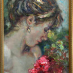 "El Pendiente by Jose Royo at Art Leaders Gallery, voted ""Michigan's Best Fine Art Gallery"" is located in the heart of West Bloomfield. This full service fine art gallery is the destination for all your art and custom picture framing needs. Our extensive inventory of art includes styles ranging from contemporary to traditional. The gallery represents international, national and emerging new talent as well as local Michigan artists."
