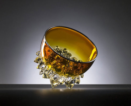 Gold Topaz Thorn Bowl by Andrew Madvin at Art Leaders Gallery - Michigan's Finest Art Gallery