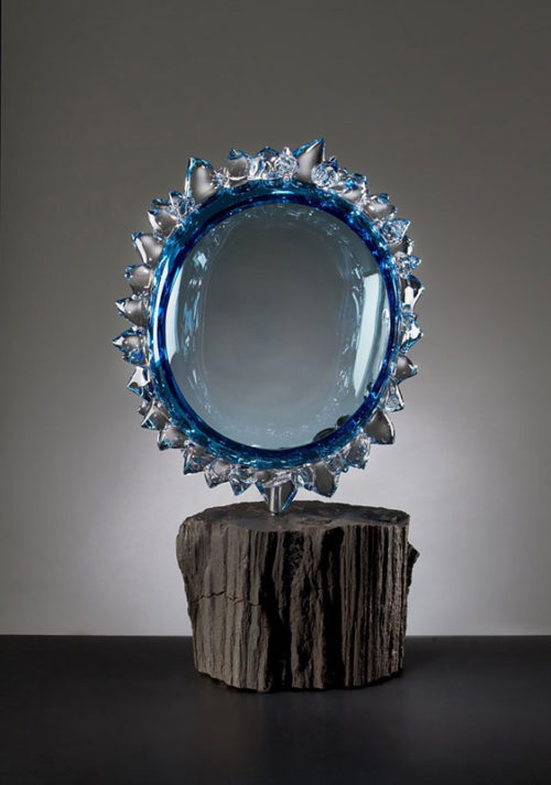 Steel Blue Star and Stone by Andrew Madvin at Art Leaders Gallery - Michigan's Finest Art Gallery