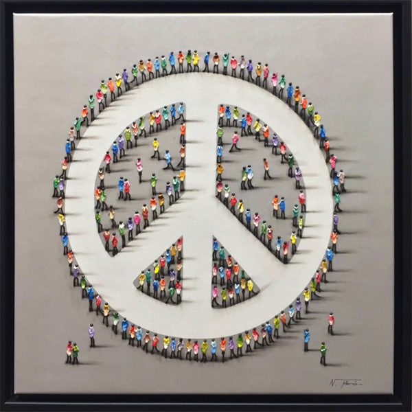 """Peace by Nuria Miro at Art Leaders Gallery, voted """"Michigan's Best Fine Art Gallery"""" is located in the heart of West Bloomfield. This full service fine art gallery is the destination for all your art and custom picture framing needs. Our extensive inventory of art includes styles ranging from contemporary to traditional. The gallery represents international, national, and emerging new talent as well as local Michigan artists."""