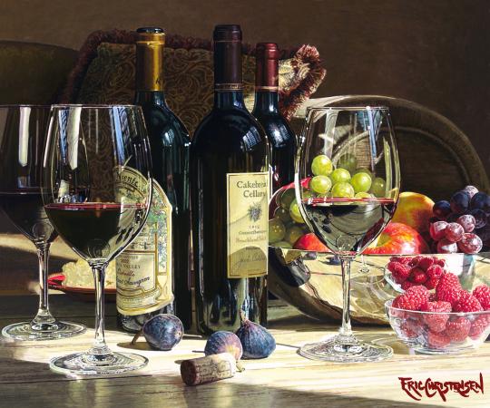 Back to Back Eric Christensen Wine Artwork