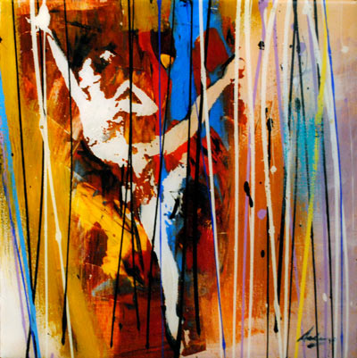Ballerina - Original Mixed Media Painting
