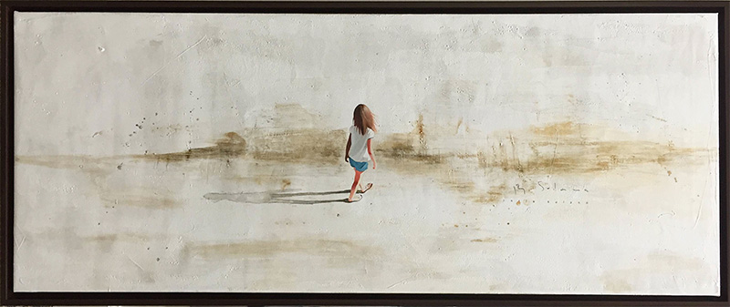 Beach Walk I by Berta Solana, Framed