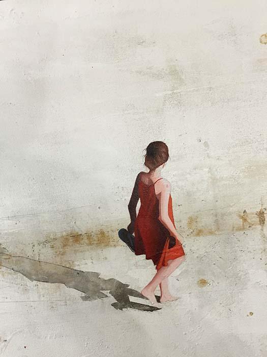 Beach Walk II by Berta Solana, Detail
