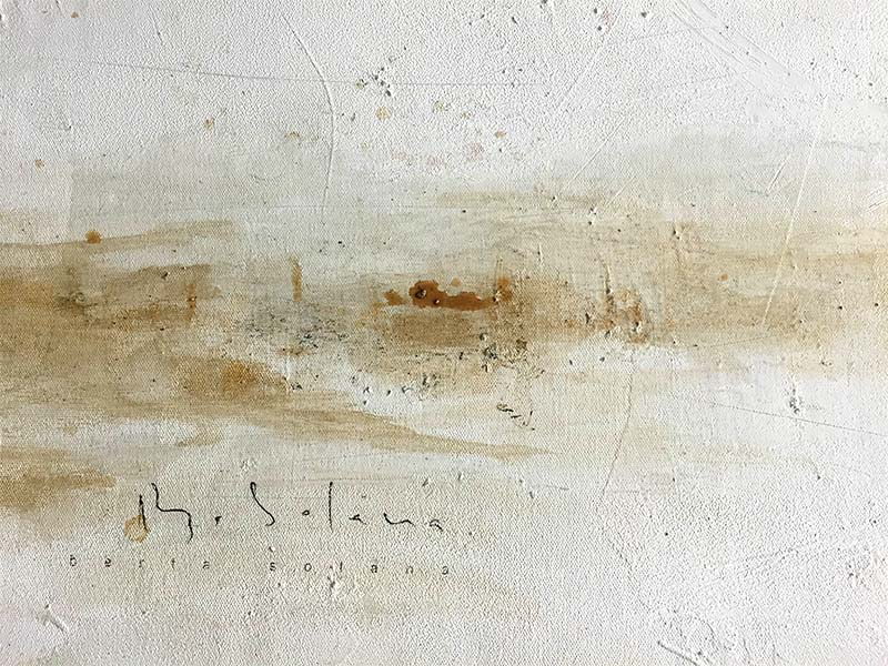 Beach Walk II by Berta Solana, Signature