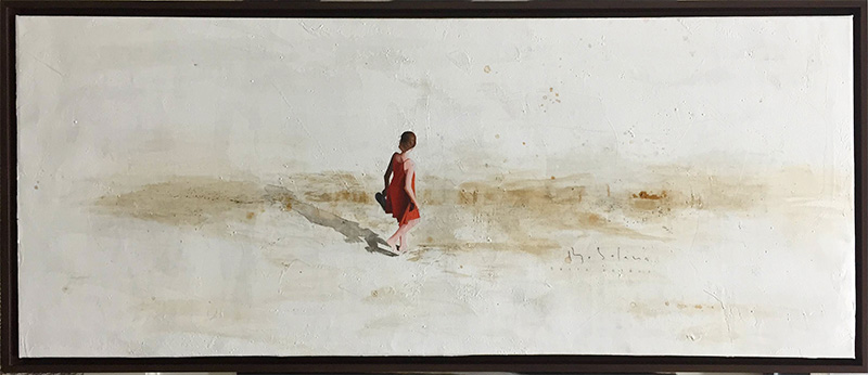 Beach Walk II by Berta Solana, Framed