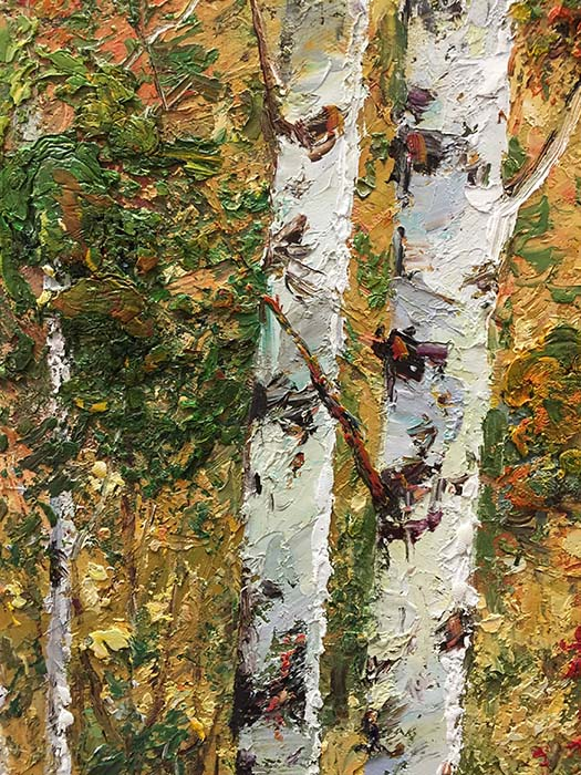 Birch Forest by Henry, Detail