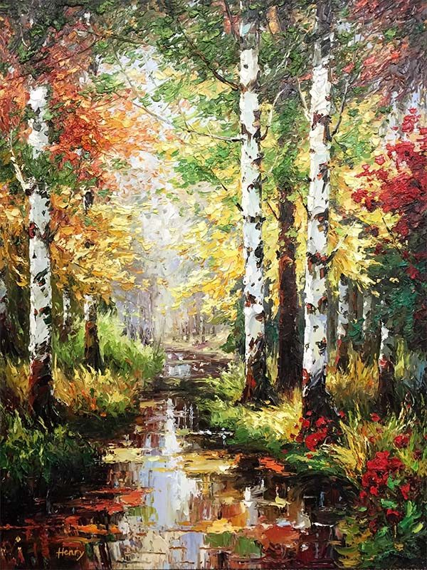 Birch Tree Path II by Henry, Overview