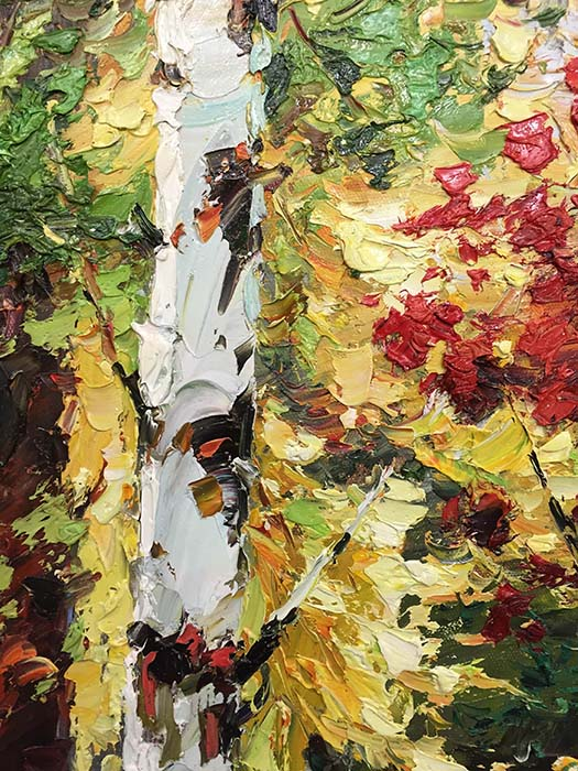 Birch Tree Path II by Henry, Detail