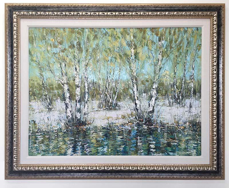 Birch Trees by Kostantin Savchenko, Overview