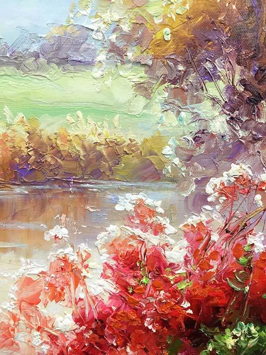 Birch Trees in Autumn by Dae Chun Kim, Texture