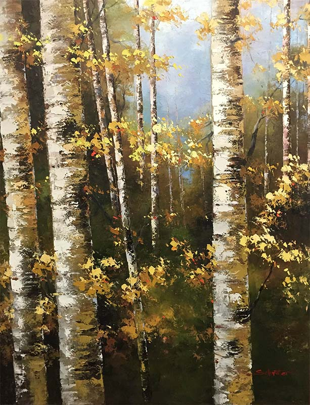 Birch Trees in Summer by Schroter, Overview