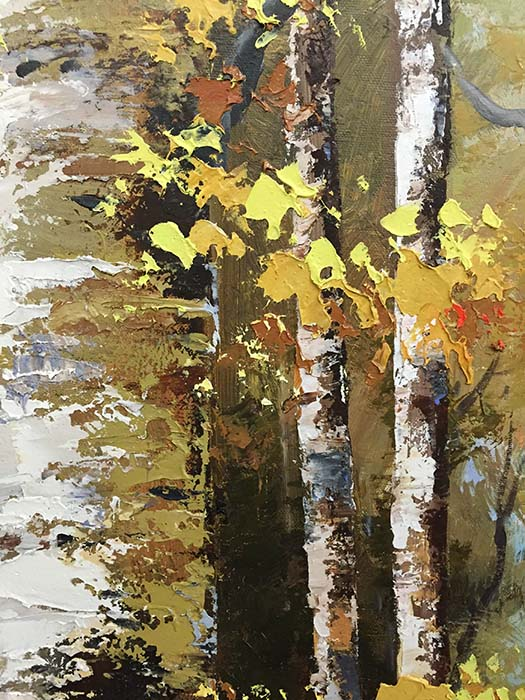 Birch Trees in Summer by Schroter, Detail