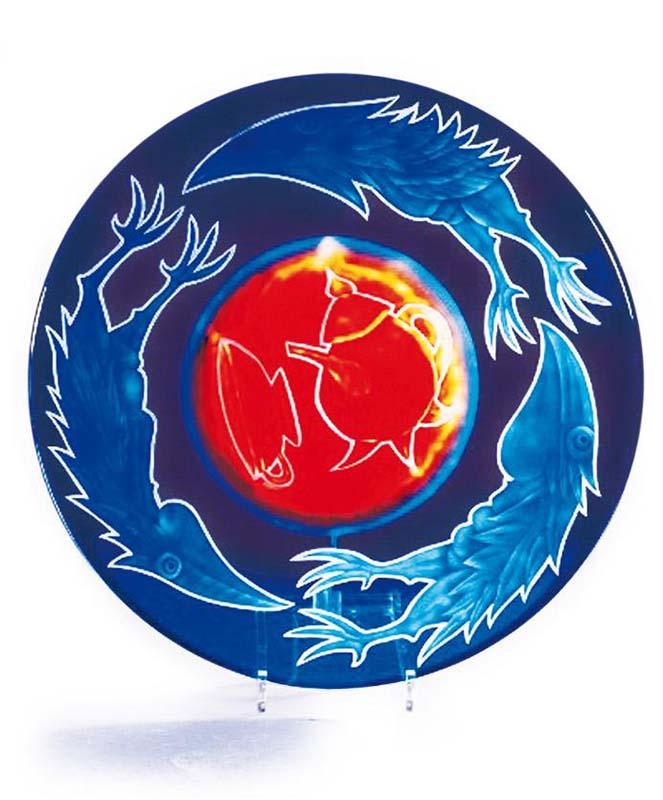 Teller Bird Plate: 24-99-11 by Pawel Borowski
