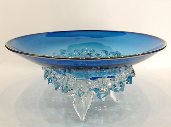 Aqua Low Thorn Bowl by Andrew Madvin