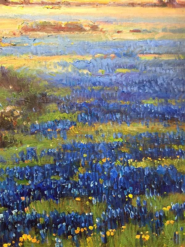 Blue Poppies by Max Jung Yoon, Detail