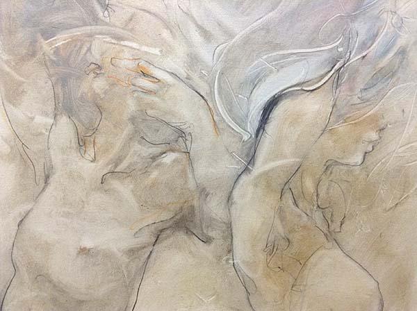 Body Talk - Original Painting on Canvas, Detail