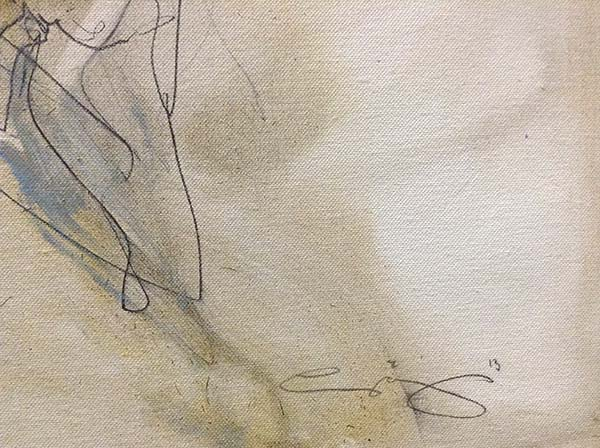 Body Talk - Original Painting on Canvas, Signature