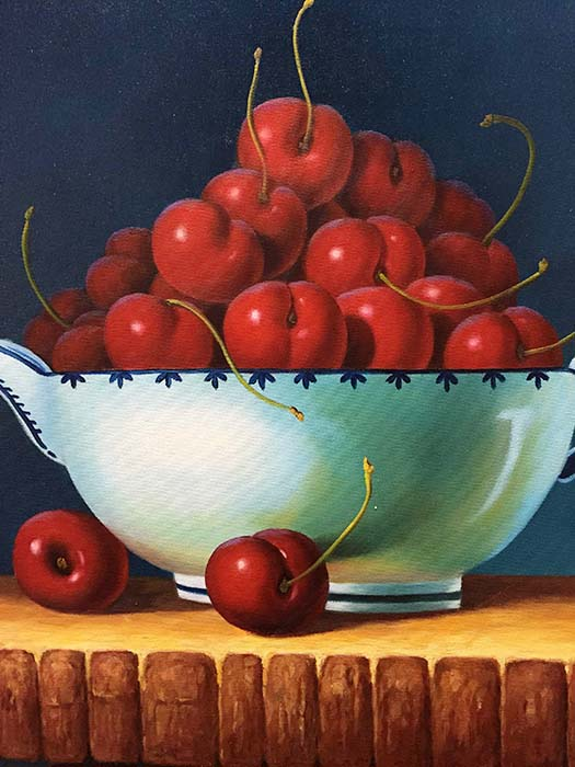 Bowl of Cherries by Franklin, Detail