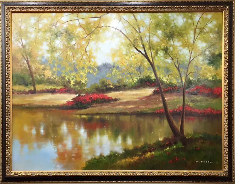 Brook Reflections by Pan Mossi, Framed
