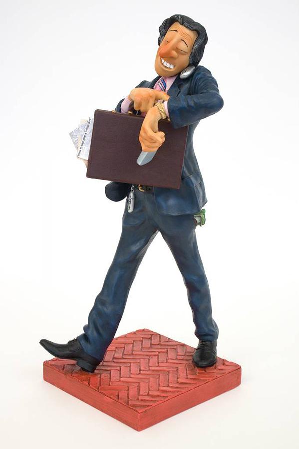 Businessman - Mixed Media Sculpture