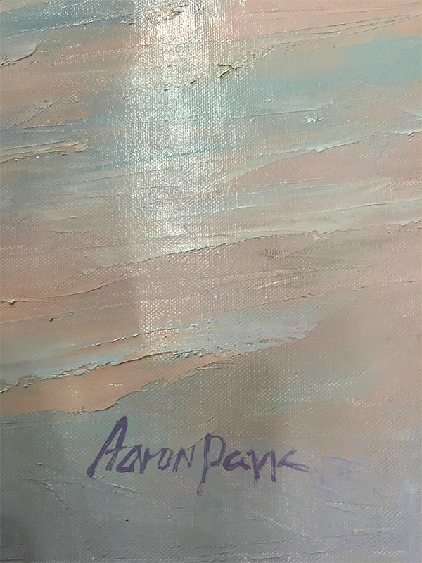 By the Sea by Aaron Park, Signature