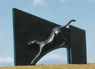 Cheetah & Structure - Sculpture #435