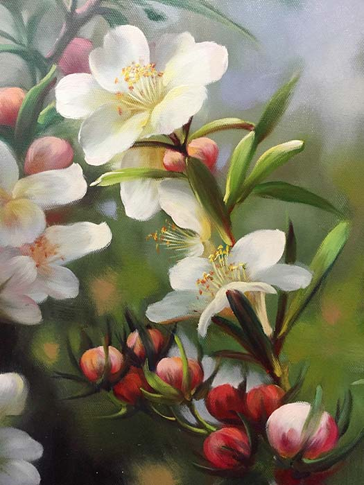 Cherry Blossoms by G. Salman, Detail