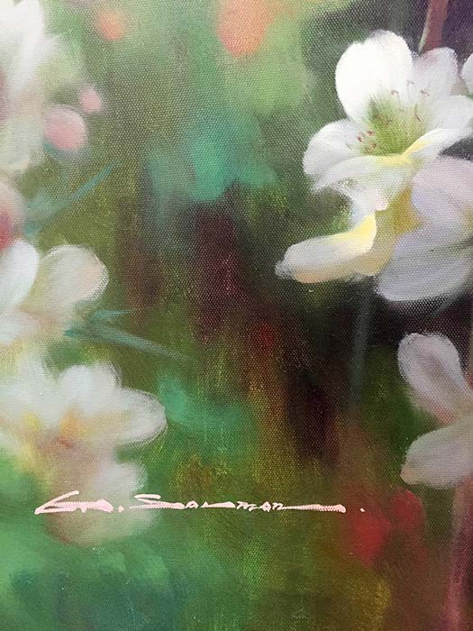 Cherry Blossoms by G. Salman, Signature