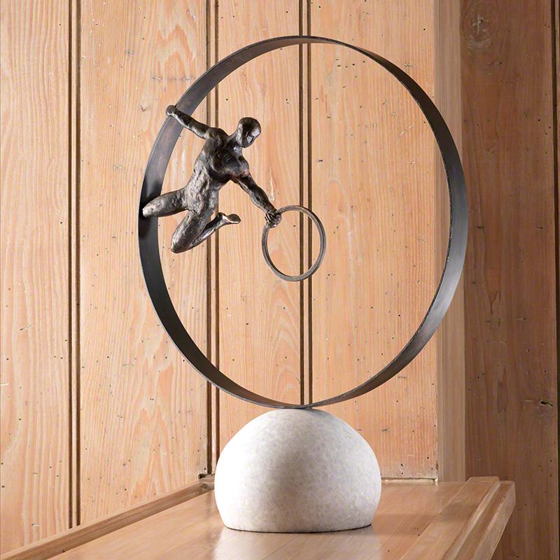 Circle in Circle Man Sculpture - 8.81683
