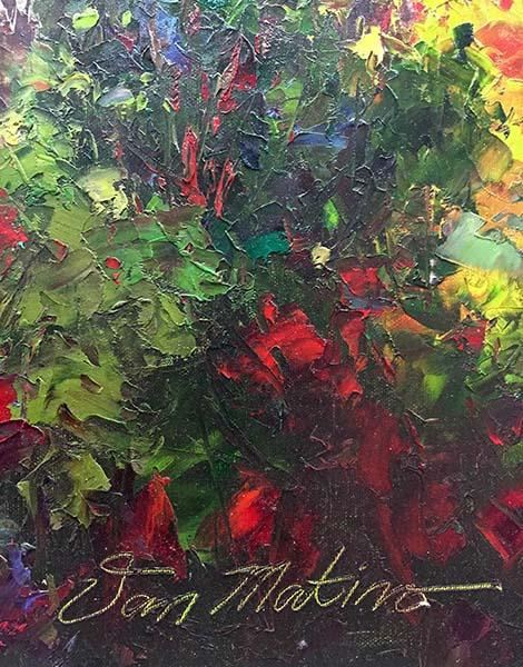 Colorful Season by Van Matino, Signature