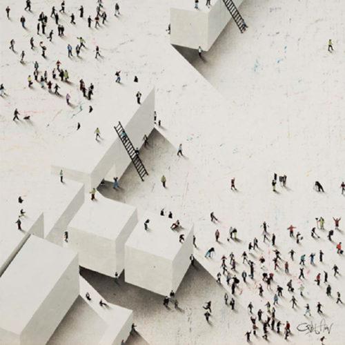 Craig Alan Painting, Find Your Spot, Populous Series