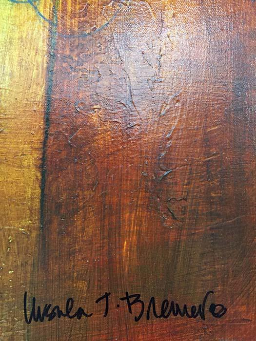 Copper Glow II by Ursula J. Brenner, Signature