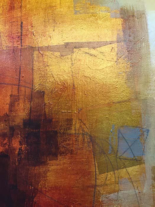 Copper Glow II by Ursula J. Brenner, Detail